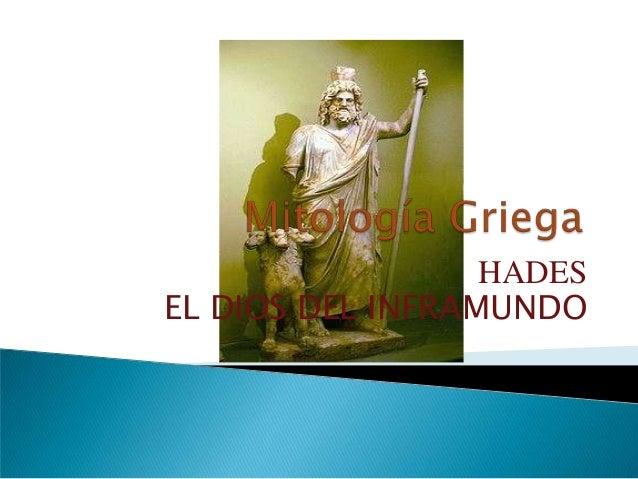 HADESEL DIOS DEL INFRAMUNDO
