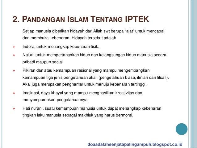 Islam Mendorong Pengembangan Ilmu Pengetahuan  Slide 3
