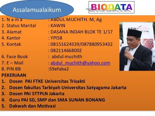 Hadis 5 Arbain Nawawi/ustadz Gaul Slide 2