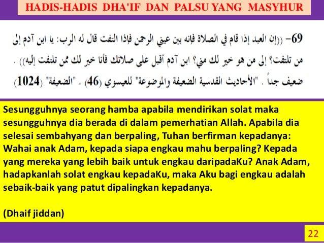 Hadis Dhaif Maudhu Pt 3