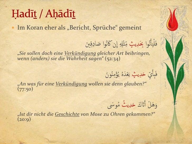 koran sprüche Hadithterminologie koran sprüche