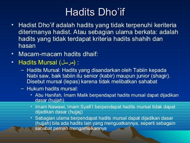 Hadits Shahih Dhoif