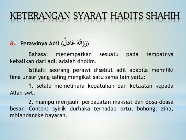 Hadits Shahih Hasan Dlo If