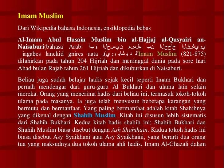 Kumpulan Hadits Shahih Bukhari Muslim