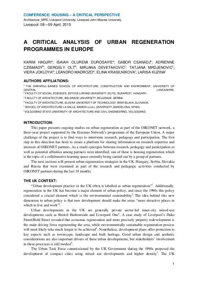 Regeneration critical essays