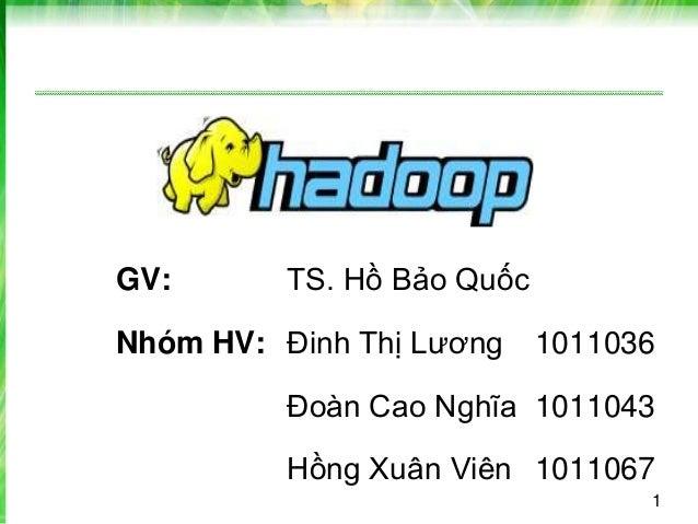 1 GV: TS. Hồ Bảo Quốc Nhóm HV: Đinh Thị Lương 1011036 Đoàn Cao Nghĩa 1011043 Hồng Xuân Viên 1011067