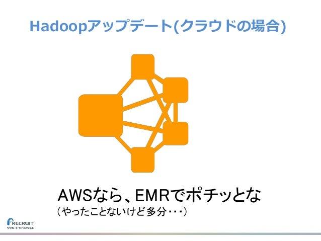 Hadoopアップデート(クラウドの場合) AWSなら、EMRでポチッとな (やったことないけど多分・・・)