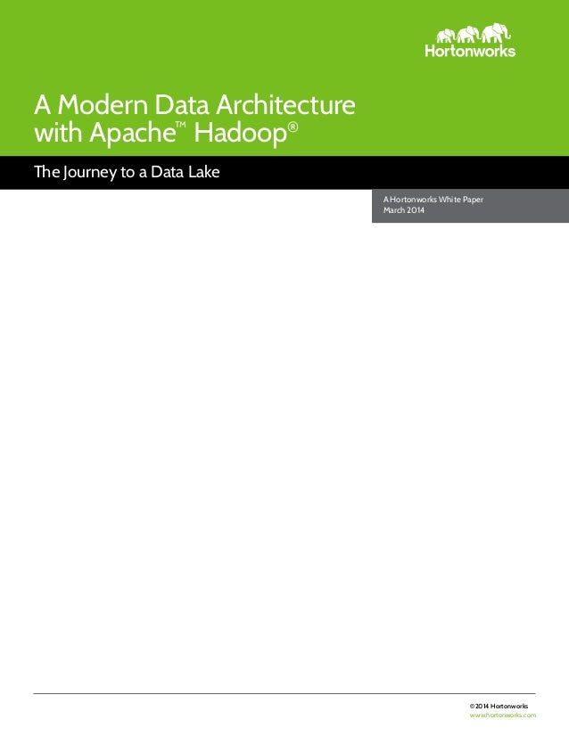 ©2014 Hortonworks www.hortonworks.com The Journey to a Data Lake A Modern Data Architecture with Apache™ Hadoop® A Hortonw...