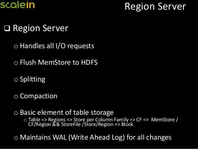 Write ahead log in hbase replication