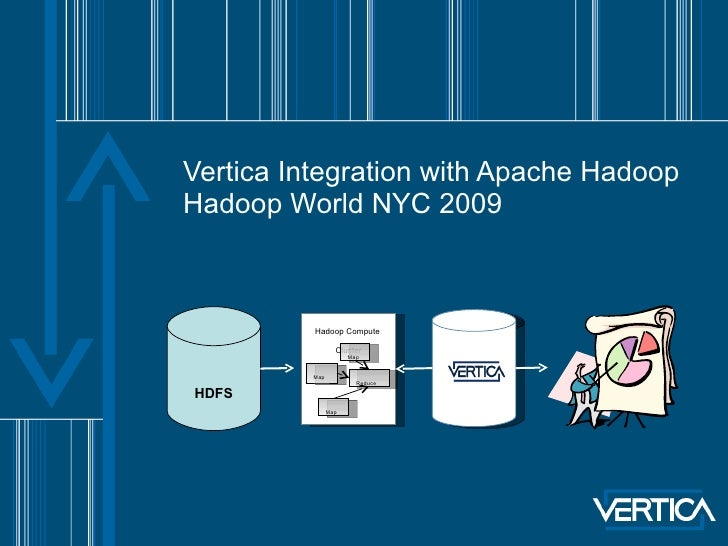 Vertica Integration with Apache Hadoop Hadoop World NYC 2009 HDFS Hadoop Compute  Cluster Map Map Map Reduce