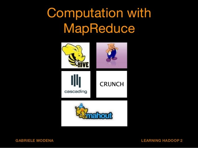 Computation with  MapReduce  CRUNCH  GABRIELE MODENA LEARNING HADOOP 2