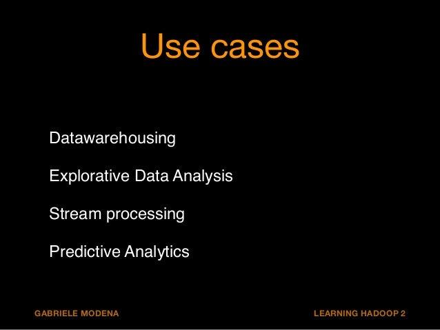 Datawarehousing  Data ingestion!  Pipelines!  Transform and enrich (ETL) queries - batch!  Low latency (presentation) quer...