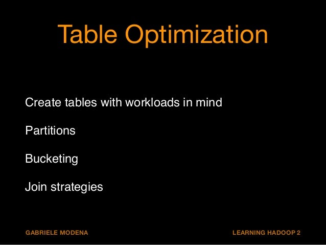 Plenty of tunables !!  # partitions  SET hive.exec.dynamic.partition=true;  SET hive.exec.dynamic.partition.mode=nonstrict...