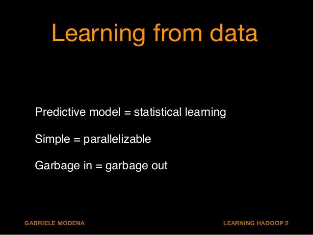 Couple of things we can do  1. Parameter tuning  2. Feature engineering  3. Learn on all data  GABRIELE MODENA LEARNING HA...