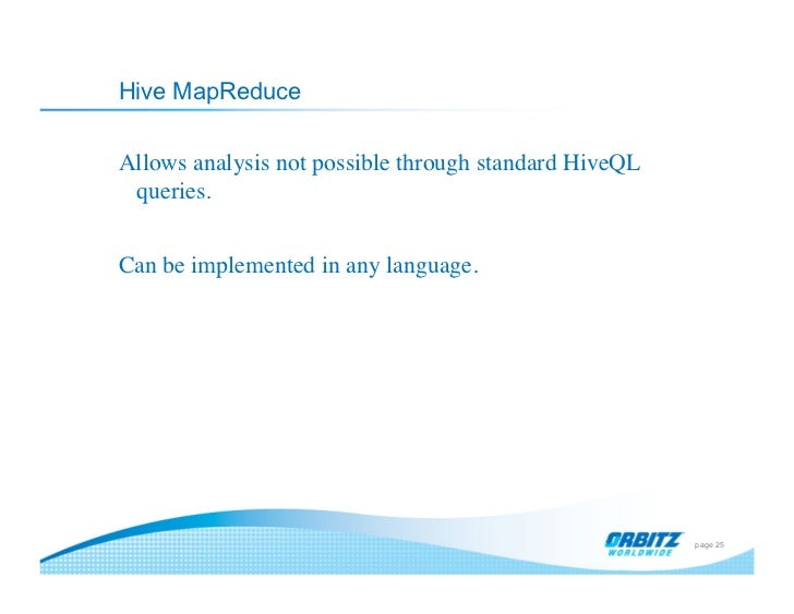 data analysis with hadoop and hive chicagodb 2 21 2011