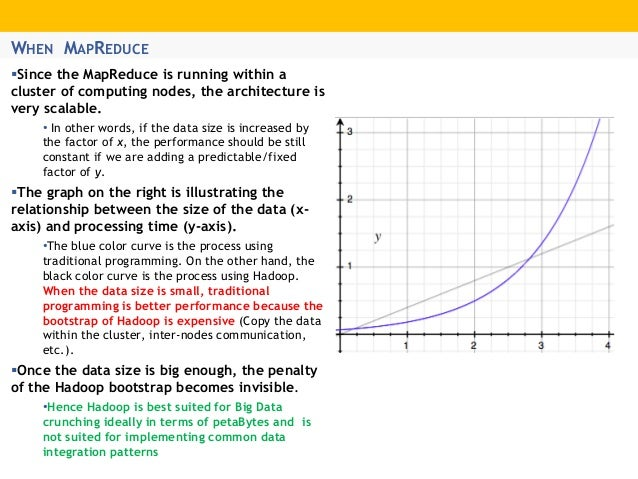 WHEN MAPREDUCE Since the MapReduce is running within a cluster of computing nodes, the architecture is very scalable. • I...