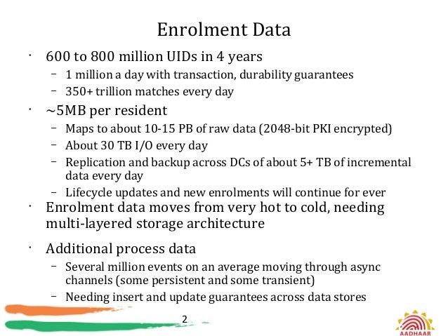 Hadoop at aadhaar Slide 2