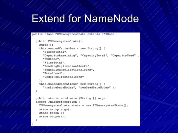 Extend for NameNode