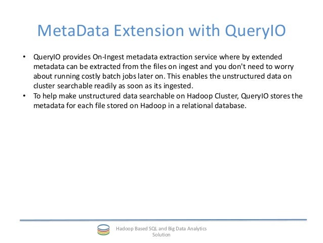 Data Tagging: Hadoop Data Tagging And Metadata Extension
