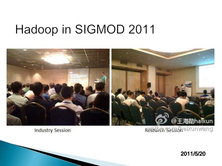 Hadoop in SIGMOD 2011<br />2011/5/20<br />