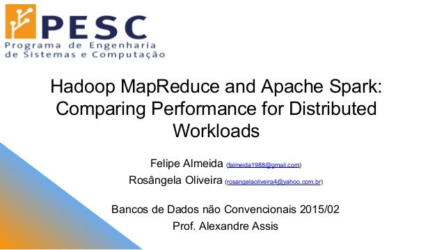 Hadoop MapReduce and Apache Spark: Comparing Performance for Distributed Workloads Felipe Almeida (falmeida1988@gmail.com)...