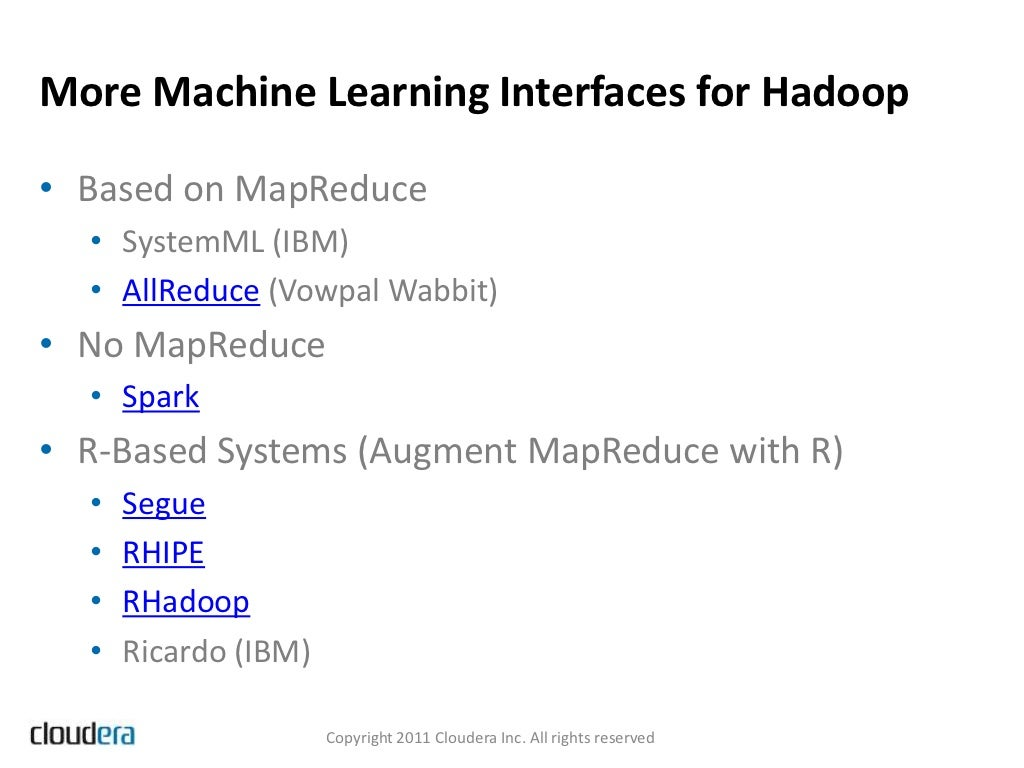 machine learning functionality packages
