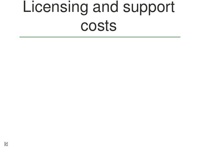 Licensing and support costs  32