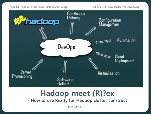 Hadoop meet (R)?ex - How to use Rexify for Hadoop cluster construct Original Rex base image http://rexify.org 2013-08-26 O...