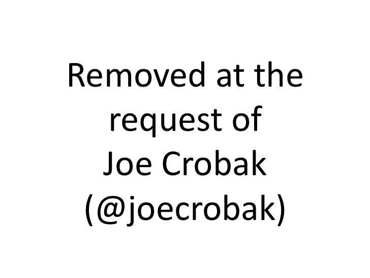 Removed at therequest of Joe Crobak(@joecrobak)<br />