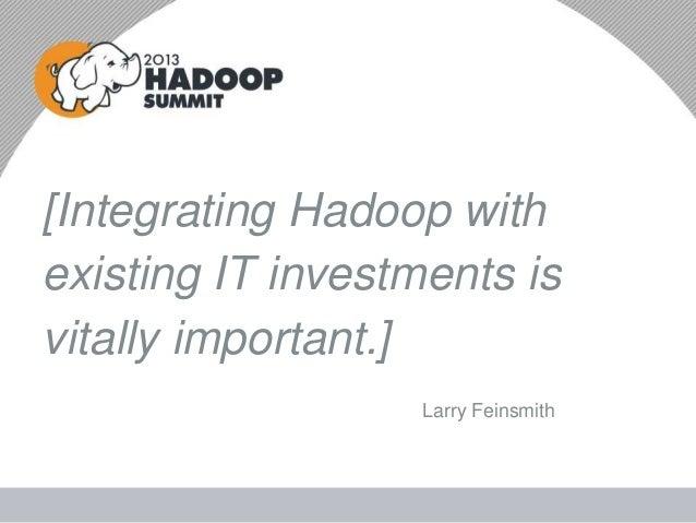 Hadoop's Role in Enterprise Architecture