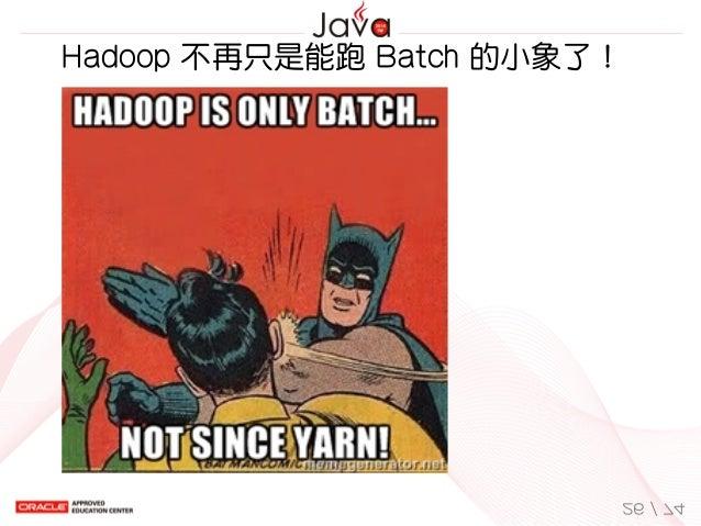 Hadoop不再只是能跑Batch的小象了! 26/74