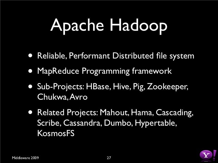 Problem: Bandwidth to                 Data         • Scan 100TB Datasets on 1000 node cluster          • Remote storage @ ...