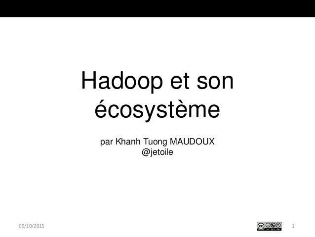 Hadoop et son écosystème par Khanh Tuong MAUDOUX @jetoile 109/10/2015