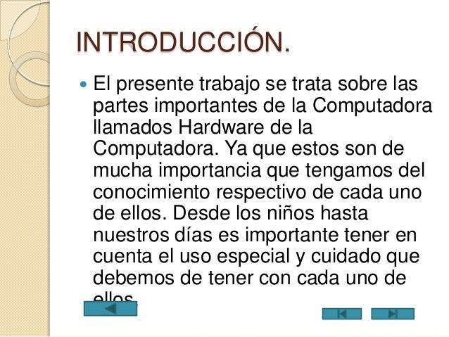 Hadware De La Computadora