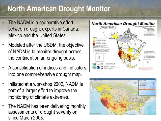 Update From The North American Drought Monitor - Us dought map 2002