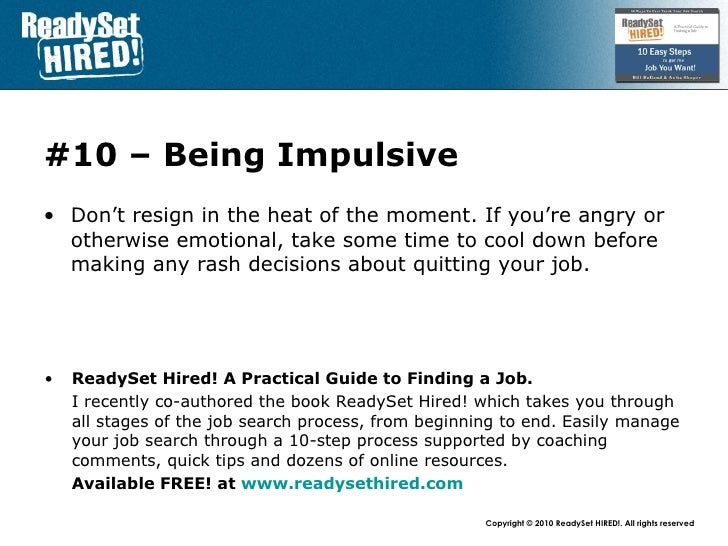 Top  Mistakes   Resigning Your Job