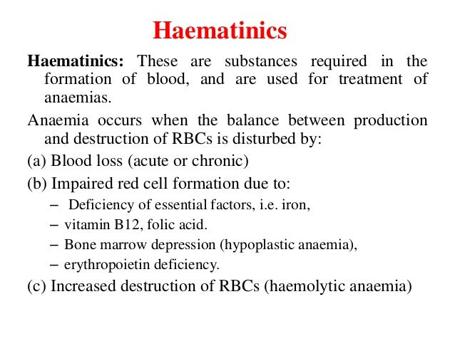 Haematinics Slide 2