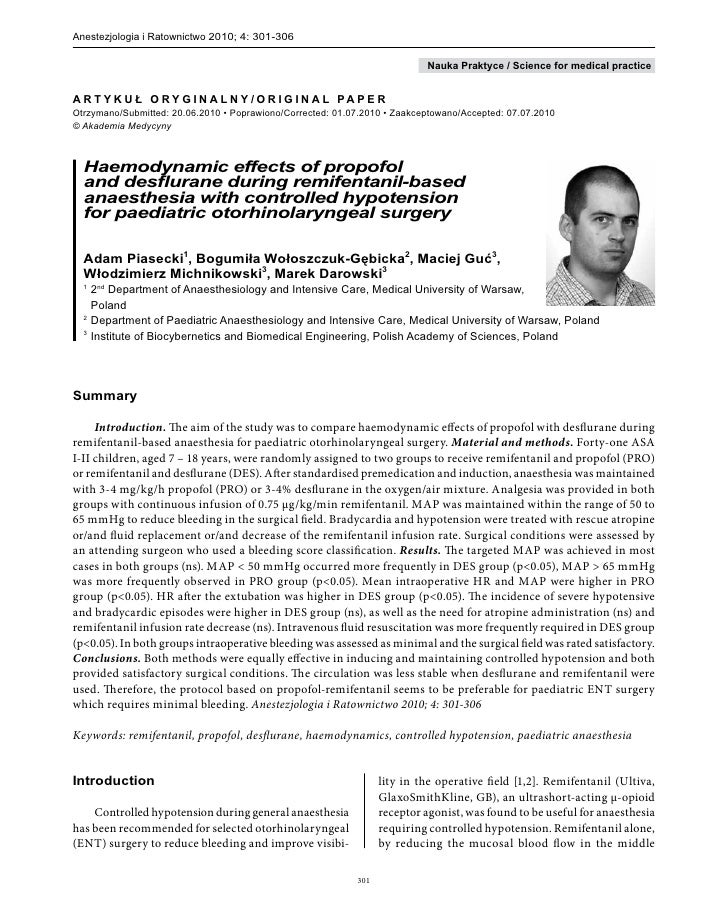Anestezjologia i Ratownictwo 2010; 4: 301-306                                                                             ...