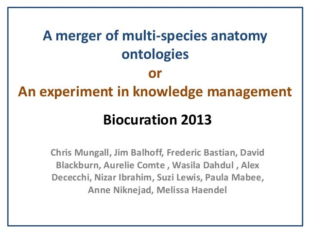 A merger of multi-species anatomy               ontologies                   orAn experiment in knowledge management      ...