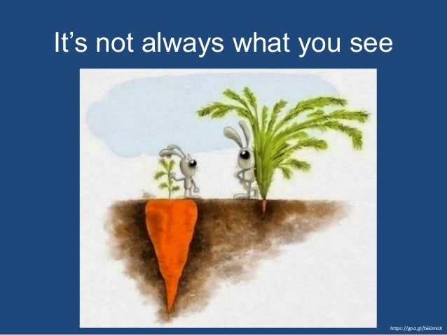 https://goo.gl/b60moX It's not always what you see