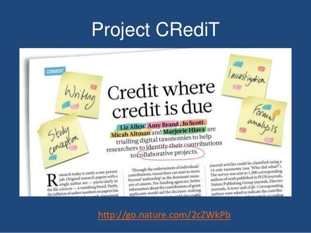Project CRediT http://go.nature.com/2cZWkPb
