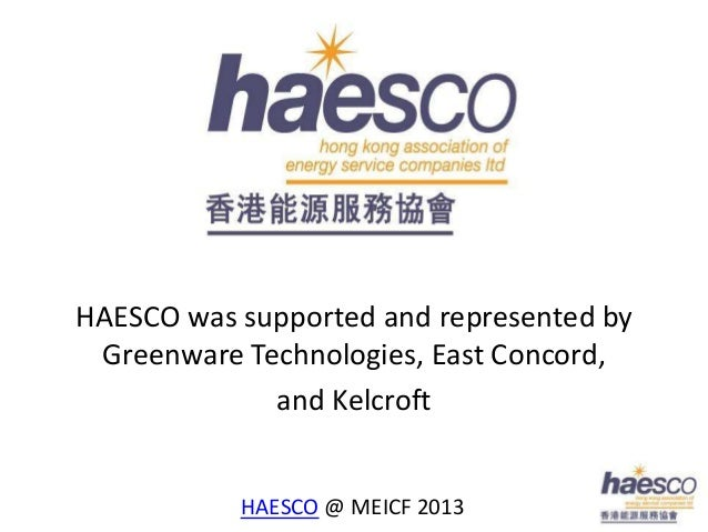 HAESCO was supported and represented by Greenware Technologies, East Concord,             and Kelcroft           HAESCO @ ...