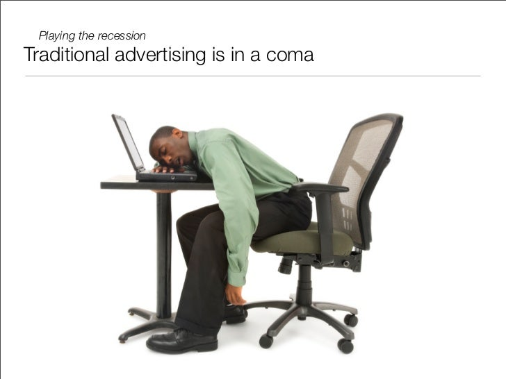 Playing the recession - tips for advertisers and the Millennials that work there Slide 3