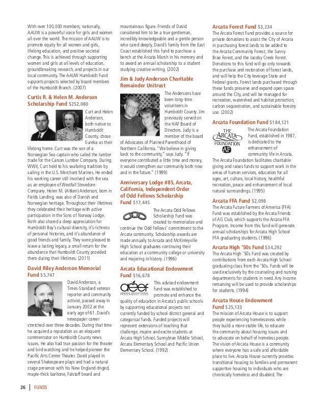 Humboldt Area Foundation 2015 16 Yearbook