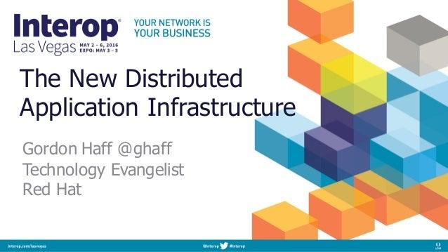 The New Distributed Application Infrastructure Gordon Haff @ghaff Technology Evangelist Red Hat