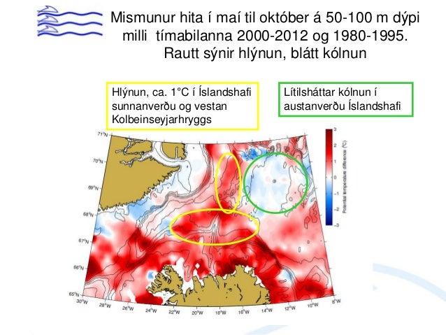 Útbreiðsla og göngur loðnu 1993 Skv. veiðiskýrslum loðnuskipa Október - desember Júlí - ágúst September - október Ágúst - ...