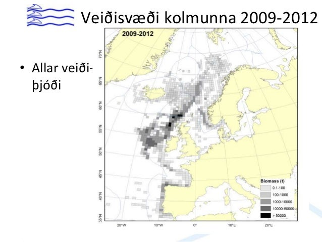 • Allar veiði- þjóði Veiðisvæði kolmunna 2009-2012
