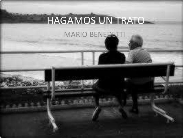 HAGAMOS UN TRATO MARIO BENEDETTI
