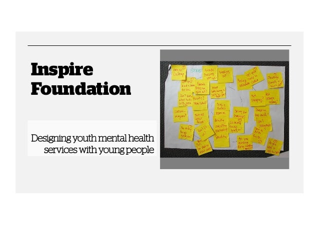 Inspire Foundation Designing youth mental health services with young people