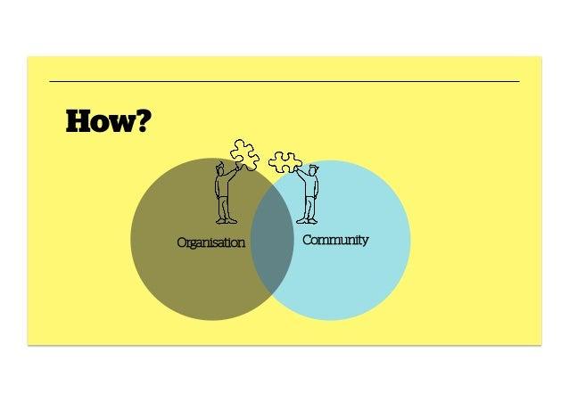 How?  Organisation  Community